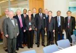 Photo: Some of the members of the Group of Eminent Persons at the official launching of the group in New York on September 26, 2013. Credit: CTBTO