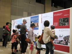Visitors to the Hiroshima exhibition | Credit: SGI