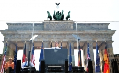 Image: President Barack Obama delivers remarks at the Brandenburg Gate in Berlin, Germany, June 19, 2013. (Official White House Photo by Pete Souza)245