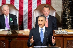 President Obama delivers the State of the Union address at the U.S. Capitol in Washington, D.C., Feb. 12, 2013. | Official White House Photo by Chuck Kennedy