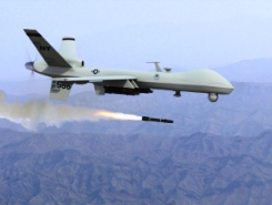 Predator drone firing missile | Credit: Drone Wars UK