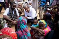 UNHCR Chief with IDPs in Somalia
