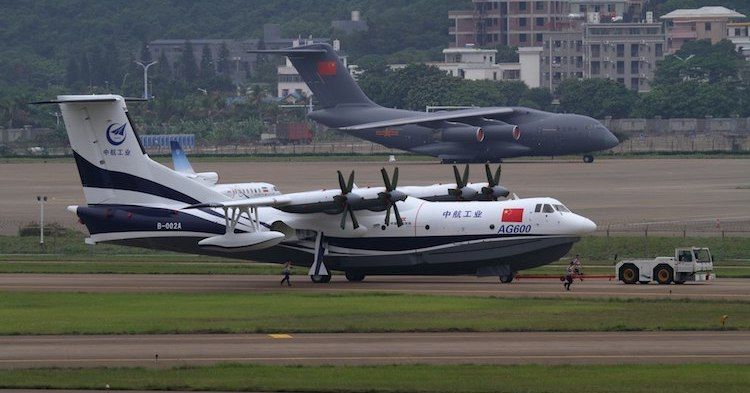 Photo: China and Russia are reportedly challenging US military dominance. China's AVIC AG600, code named Kunlong, also known as TA-600, is the largest amphibious aircraft currently flying. CC BY-SA 4.0