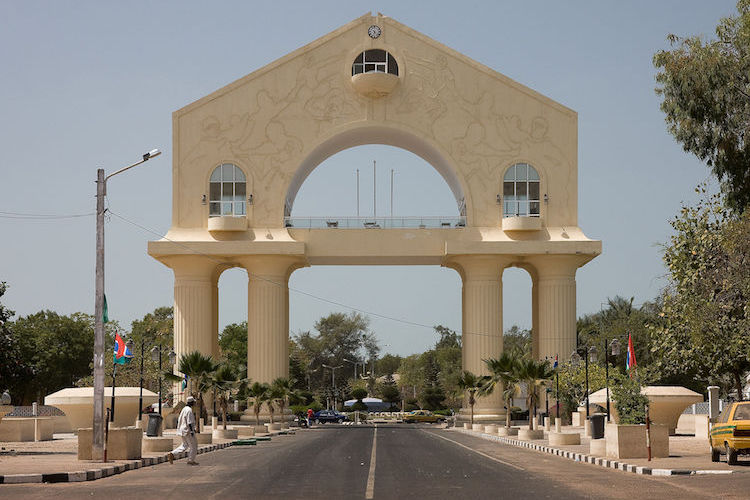 Photo: The Arch 22 monument commemorating the 1994 coup which saw the then 29-year-old Yahya Jammeh seize power in a bloodless coup, ousting Dawda Jawara, who had been President of the Gambia since 1970. CC BY-SA 3.0