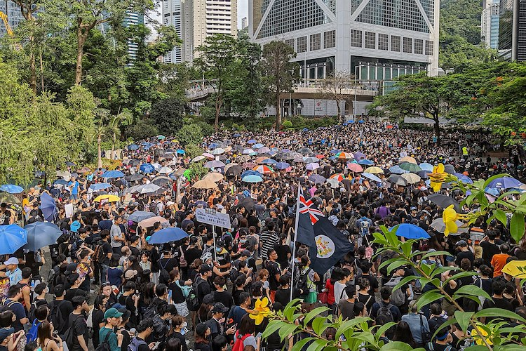 Photo: Hong Kong pro-democracy protesters on 28 July 2019. CC BY 2.0