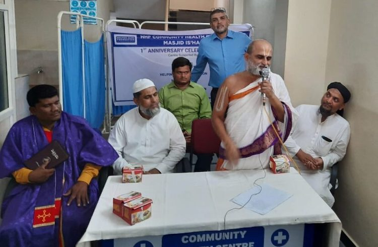 Photo: Interfaith efforts between Chilkur Balaji Temple in Hyderabad and the Helping Hand Foundation help achieve shared community health goals. Credit: WNV/Helping Hand Foundation