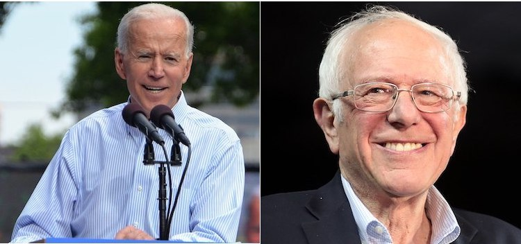 Photo: Collage of images of Joe Biden (left) and Bernier Sanders (right) from Wikimedia Commons.