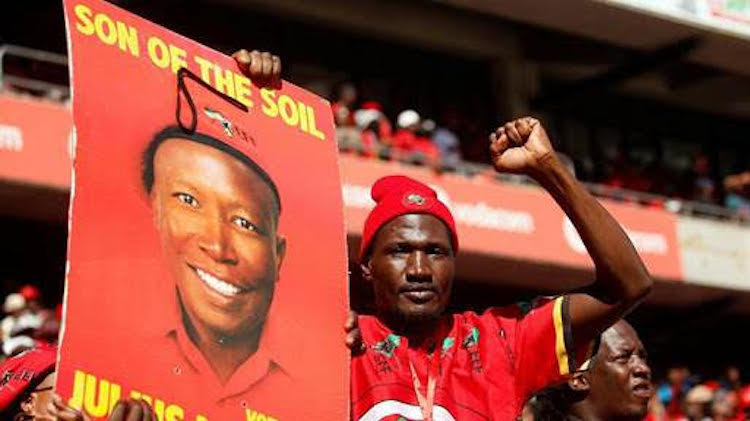 Photo: Poster of Julius Malema of the Economic Freedom Fighters (EFF).