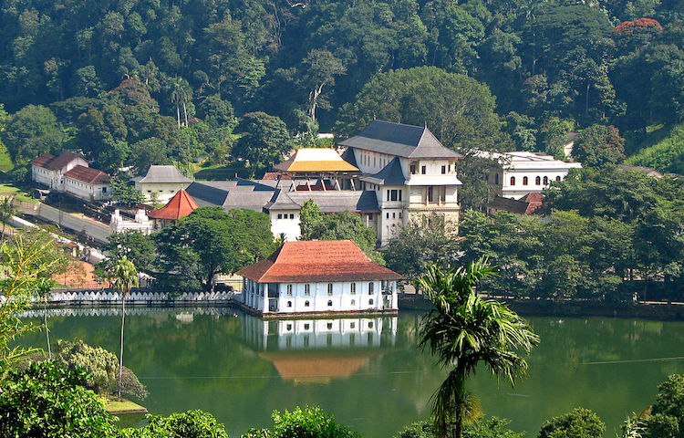 Photo: The Temple of the Tooth in Kandy, one of the most holy sites in Sri Lanka reputed to contain an actual tooth of the Buddha on his 2nd visit to the Island over 2000 years ago. CC BY 2.0