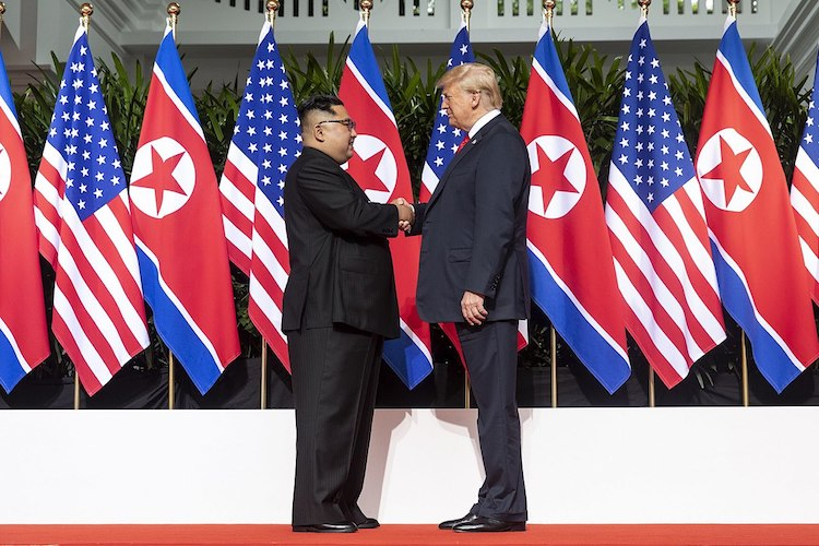 Photo: Trump and his team have clearly squandered the seven months since the Singapore summit on June 12, 2018 to make progress on even modest steps toward that meeting's lofty goals. Credit: Wikimedia Commons.
