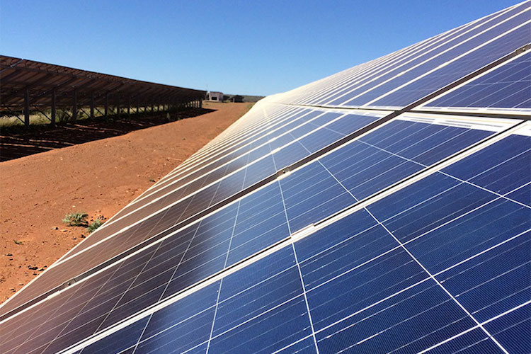 Photo: Lesedi solar power plant panels. Credit: MyBroadBand