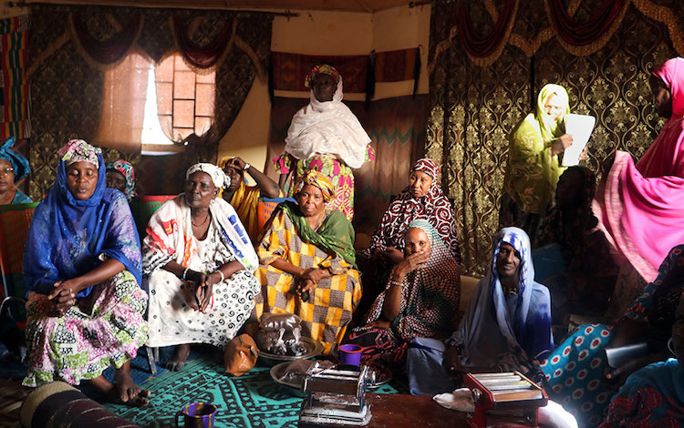 Photo: Women from all ethnic groups in Gao and the surrounding villages come together in the Peace Hut. Credit: UN Women/Sandra Kreutzer