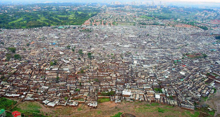 Photo: View of Kibera in Nairobi, the largest urban slum in Africa. CC BY-SA 3.0