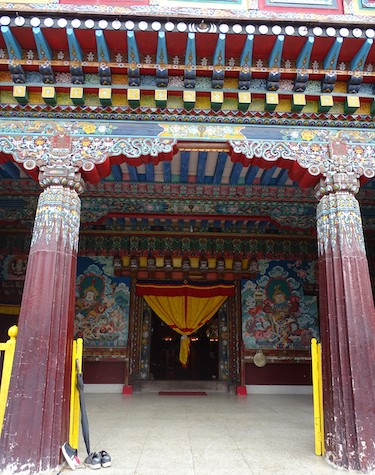 Entrance to Pemayangtse monastry prayer shrine