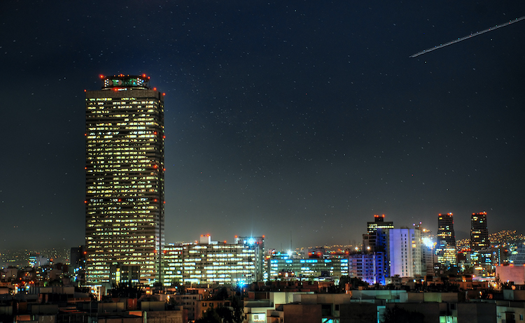 Photo: Pemex Tower at Night. Source: Wikimedia Commons