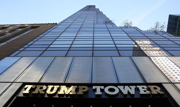 Photo: Looking upward from the Fifth Avenue Trump Tower (New York City) entrance. Source: Wikimedia Commons