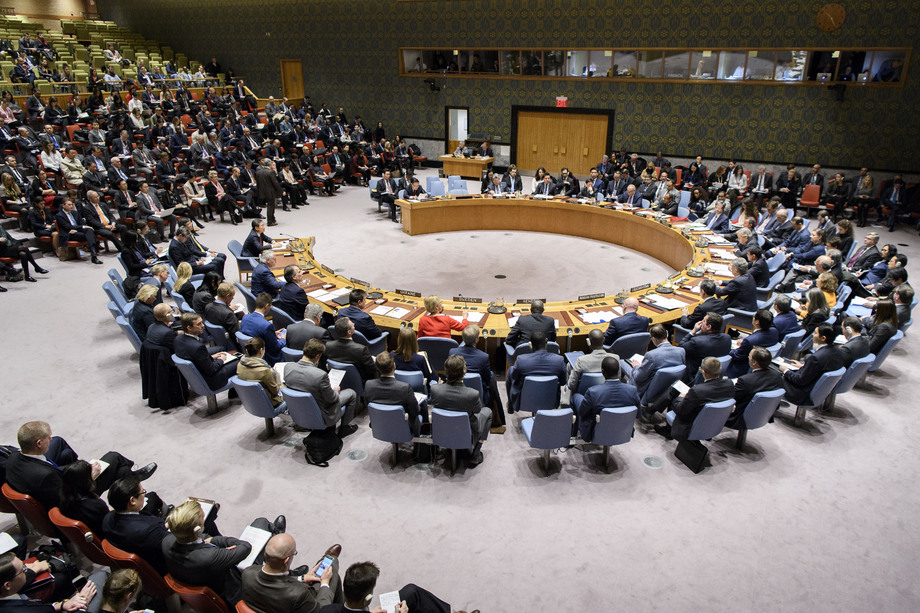 Photo: General view of the Security Council meeting on non-proliferation by the Democratic People's Republic of Korea (DPRK) on 15 December 2017. Credit: UN Photo/Manuel Elias.