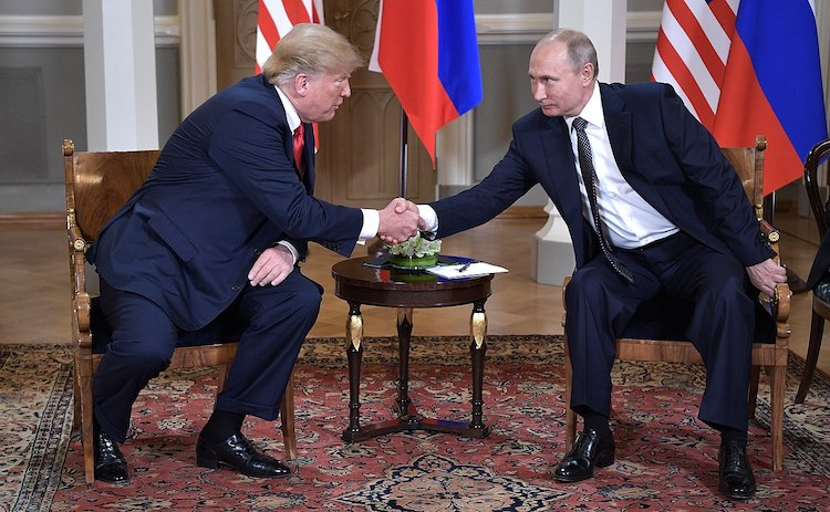 Photo: Vladimir Putin & Donald Trump in Helsinki, 16 July 2018. Credit: President of the Russian Federation. CC BY 4.0