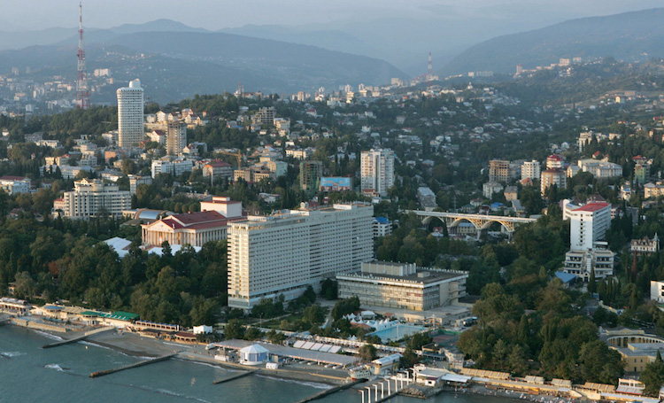 Photo: A bird's-eye view of Sochi. Credit: Wikimedia Commons.