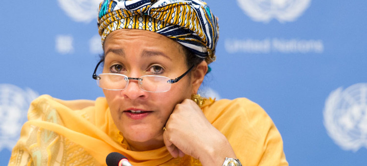 Photo: UN Deputy Secretary-General Amina Mohammed. UN Photo/Mark Garten
