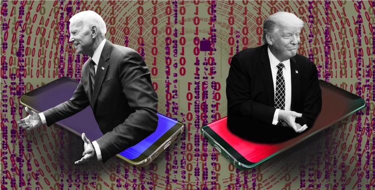 Photo: Joe Biden (left) and Donald Trump (right). Credit: MIT Technology Review