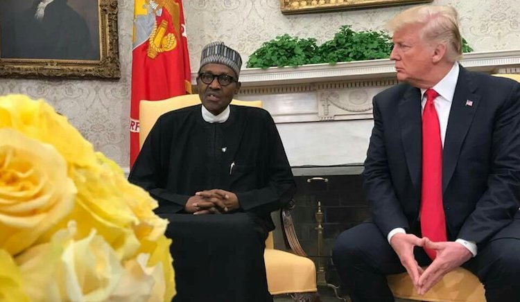 Photo: President Buhari with U.S. counterpart Trump at Oval Office on April 30, 2018. Credit: Information Nigeria.
