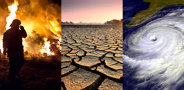 Image: The consequences of climate change. Credit: NASA