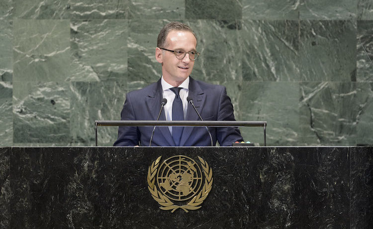Photo: Heiko Mass, Minister for Foreign Affairs of the Federal Republic of Germany, addresses the general debate of the General Assembly's seventy-third session. 28 September 2018. United Nations, New York. UN Photo/Manuel Elias