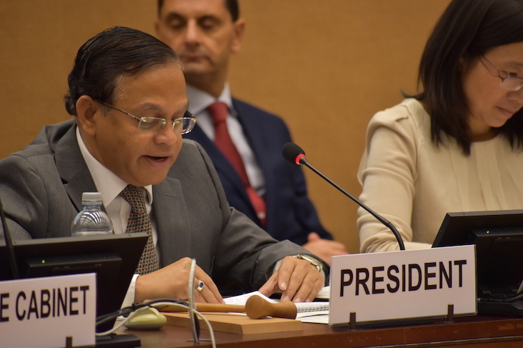 Photo: Ambassador Azeez, Sri Lanka's Permanent Representative to the UN in Geneva. Credit: UNCTAD