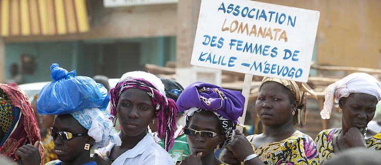 Photo: Inauguration Ceremony of Women's Farm Cooperative in Nielle, Côte d'Ivoire. UN Photo/Abdul Fatai Adegboye