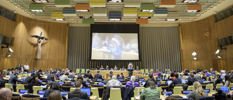Photo: Permanent Forum on Indigenous Issues: First Informal Interactive Hearing with Indigenous Peoples. 17 April 2018. United Nations, New York. Credit: UN Photo/Manuel Elias