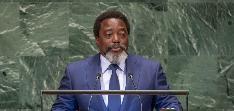 Photo: President Joseph Kabila Kabange of the Democratic Republic of the Congo addresses the seventy-third session of the United Nations General Assembly on 25 September 2018. UN Photo/Cia Pak