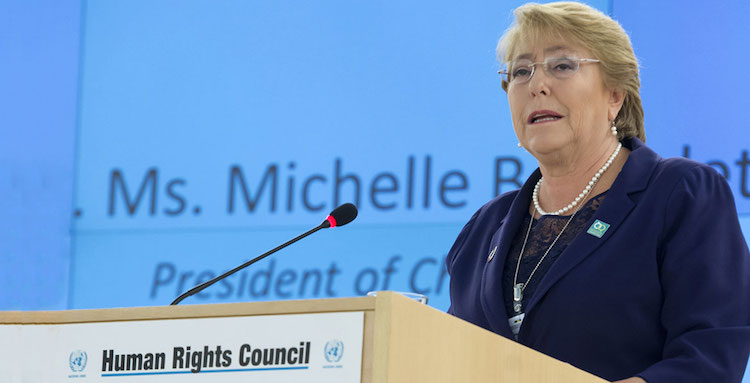 Photo: Michelle Bachelet of Chile, newly-appointed as the next UN High Commissioner for Human Rights by Secretary-General António Guterres. UN Photo/Jean-Marc Ferre.