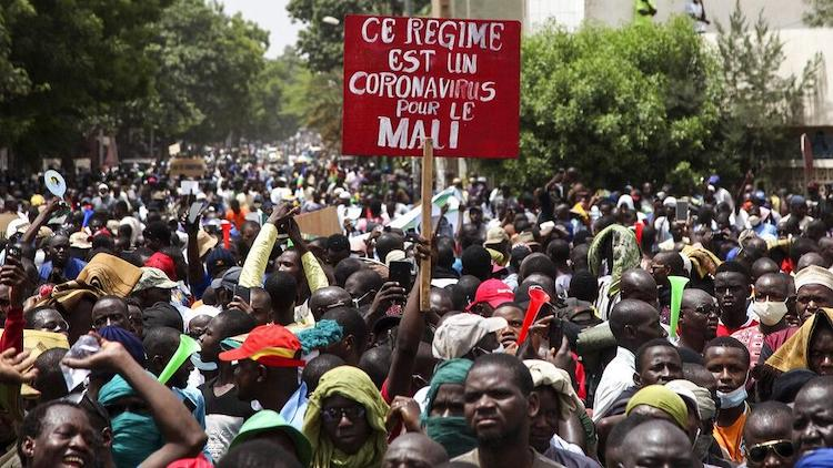 Photo: Mali protests. Source: africanews