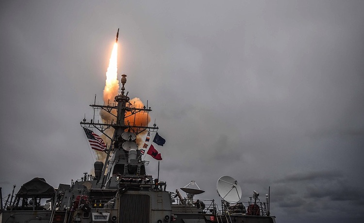 Photo: The U.S. Navy Arleigh Burke-class guided-missile destroyer USS Donald Cook (DDG 75) fires a Standard Missile-3 during exercise Formidable Shield 2017 over the Atlantic Ocean, Oct. 15, 2017. Credit: U.S. Navy.