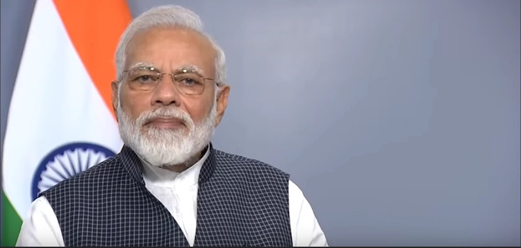 Photo: India's Prime Minister Narendra Modi addressing the nation on revoking Article 370 on August 8, 2019. Credit: narendramodi.in