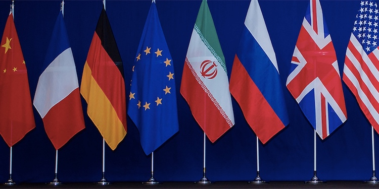 Photo: Flags of the Iran Deal Negotiating Partners. Source: Arms Control Association