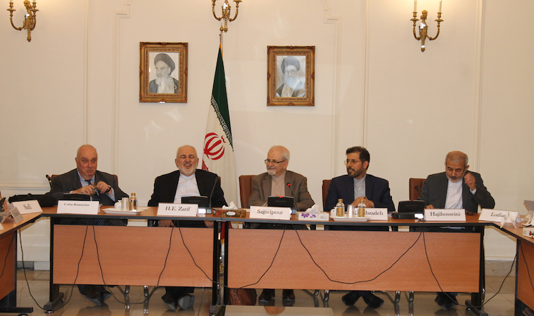Photo: Pugwash gathering in Teheran discusses implications of U.S. abandonment of the Iran nuclear deal. Credit: Pugwash.