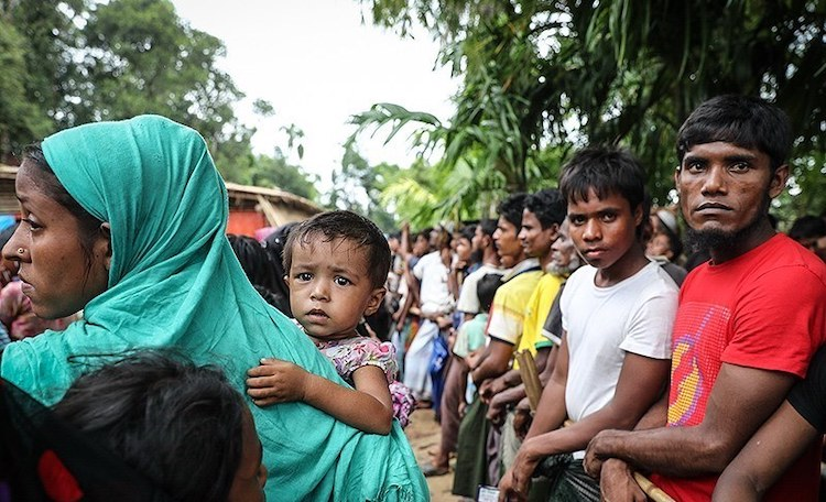 Photo: Rohingyas at the Kutupalong refugee camp in Bangladesh, October 2017. CC BY 4.0