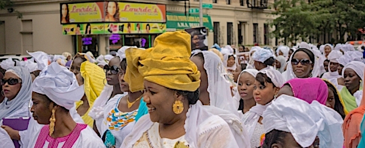 Photo: Sengalese at cultural parade in Harlem in New York. Photo: Alamy | Richard Levine | Source: Africa Renewal.