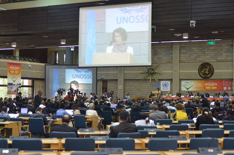 Photo: A high level opening ceremony of the South Expo. Credit: UNOSSC