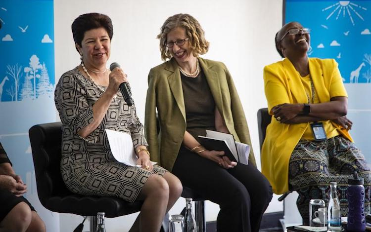 Photo: Ivana Farina, Inger Andersen and Elizabeth Mrema. Photo by Florian Flussstetter/ UN Environmen