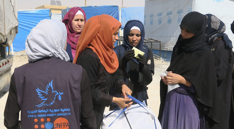 Photo: The UN Population Fund (UNFPA) is providing services to displaced women and girls across northeast Syria. Credit: UNFPA Syria.