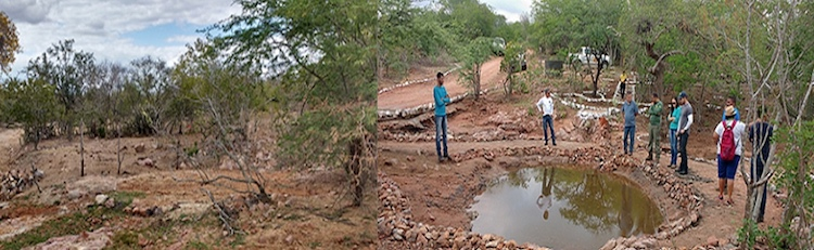 Photo: Recovery and restoration of a watershed in Brazil's Caatinga biome, as part of the URAD initiative. Source: UNCCD