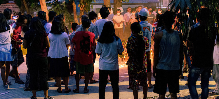 Photo: People across ethnic and religious divides hold vigil in Yangon, Myanmar. Unsplash/Zinko Hein. Source: UN.