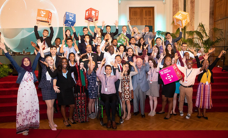 Photo: Youth Group members with the CTBTO Executive Secretary Lassina Zerbo in the centre in the second row. Credit: CTBTO